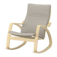 Кресло-качалка IKEA POÄNG березовый шпон Knisa светло-бежевый 292.415.27