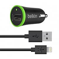 Автомобильное зарядное BELKIN (F8J078) lightning для iphone 5, 6, 6 plus, ipad, iPod Black