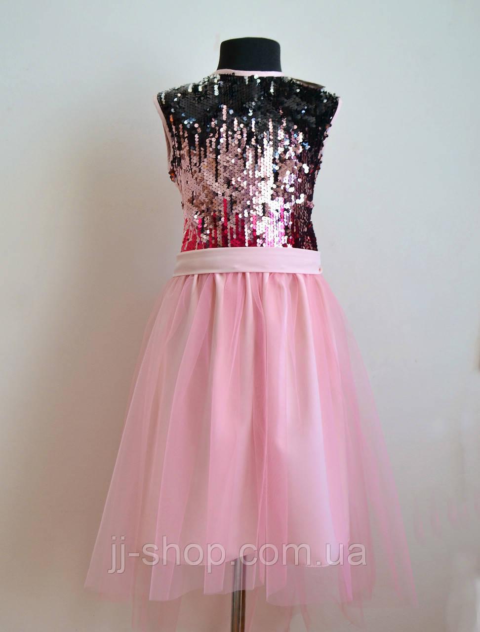 b014d446a29 Нарядное детское платье для девочки пышное с пайетками 146 - jj-shop -  Детская одежда