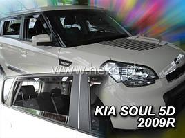 Дефлекторы окон (ветровики)  KIA SOUL - 5D 2009R→(HEKO)