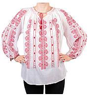 Жіноча вишита сорочка блузка марльовка з червоним орнаментом a538307c52dea