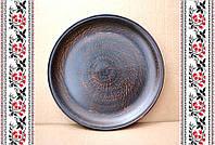 Глиняная тарелка ручной работы, посуда из глины, авторские гончарные изделия.