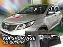 Дефлекторы окон (ветровики)  Kia Sportage 2010-2015 4шт (Heko), фото 4