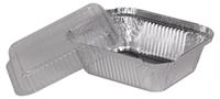 Крышка пластиковая на контейнер SP24L выпуклая, прозрачная, 100шт/уп