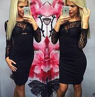 Платье с гипюром, гипюровый верх, фото 1