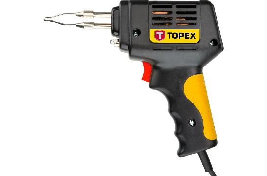 Паяльник электрический 100 Вт, насадки к паяльку, TOPEX  44E002, 44E007