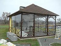 Прозорі штори ПВХ для альтанки літньої кухні, фото 1
