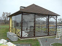 Прозрачные шторы ПВХ для беседки летней кухни, фото 1