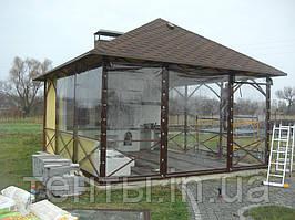 Прозрачные шторы ПВХ для беседки летней кухни