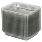 Крышка из полипропилана выпуклая прямоугольная на контейнер SP64L, 100шт/уп