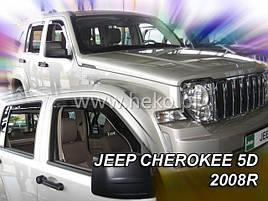 Дефлекторы окон (ветровики)  JEEP CHEROKEE - 5D 2007 – 2013R. 4шт (Heko)