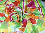 Яркое разноцветное большое  парео-платок  150 см, фото 2