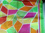 Яркое разноцветное большое  парео-платок  150 см, фото 3