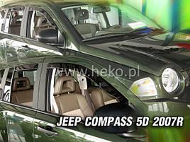 Дефлекторы окон (ветровики)  JEEP Compass 2006-2017R (HEKO)