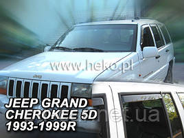 Дефлекторы окон (ветровики)  Jeep Grand Cherokee 1993r.-1999r. 4шт (Heko)