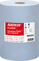 Бумага KATRIN Classic для протирки 190 м x 38 см - синяя