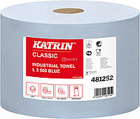 Бумага KATRIN Classic для протирки 190 м x 22 см - синяя