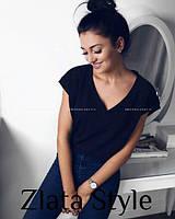Модная молодежная футболка черного цвета