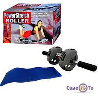 Тренажер колесо для преса з килимком