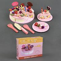 Деревянный торт с начинками и украшениями (на липучках) С23234