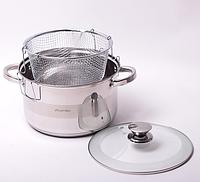 Набор посуды 3 пр(кастрюля с крышкой 6.5л; дуршлаг для макарон) из нерж. стали Kamille 4514S