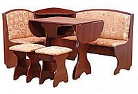 Кухонный уголок «Виконт»  с нераскладным круглым столоми двумя табуретами