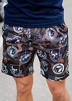 Мужские шорты, хорошее качество принт камуфляж