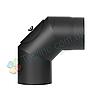 Колено-ревизия 90° для дымохода d 200 мм; 2 мм из чёрной стали «Версия Люкс»