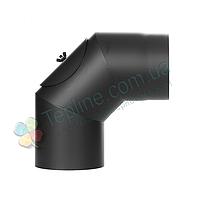 Колено-ревизия 90° для дымохода d 200 мм; 2 мм из чёрной стали «Версия Люкс», фото 1