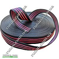 Лента, тесьма буксировочная капроновая 50 мм х 50 м для уликов и утяжки груза черная