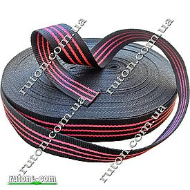 Черная капроновая лента 50 мм 50 м буксировочная для стяжных ремней 2т на разрыв
