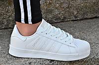 Кроссовки Adidas SUPERSTAR реплика женские белые, прошиты нереально крутая модель (Код: Б1148)