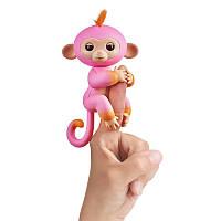 Fingerlings Интерактивная двухцветная обезьянка розово-оранжевая Саммер Wow Wee (Уценка)