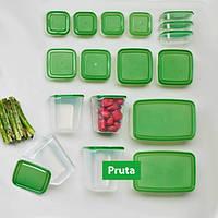 Набор контейнеров 17штук Прута от Икеа зeлeный 60149673 Ikea Pruta