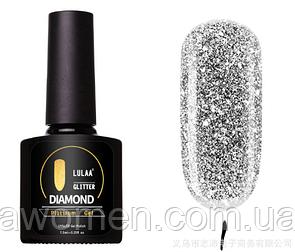 Гель лак Lulaa Diamond Glitter Platinum gel 7.5 ml № 01