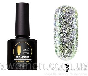 Гель лак Lulaa Diamond Glitter Platinum gel 7.5 ml № 03