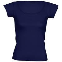 Футболка женская цветная для сублимации, термоперенос (флекс-пленка), размер XL, цвет синий