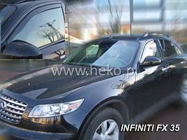 Дефлекторы окон (ветровики) INFINITI FX 35/45 - I 5D od 04-08r(HEKO)