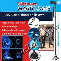 Складная суперустойчивая трость со встроенным фонариком Ultimate Magic Cane with LED light