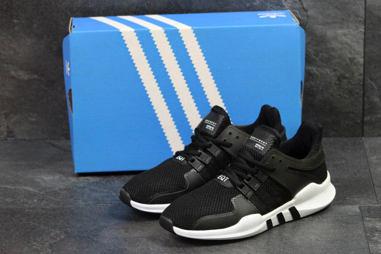 Мужские кроссовки Adidas Equipment  ADV/91-17 (черно-белые),  ТОП-реплика