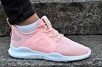 Кросовки женские подростковые нежно розовые текстиль практичные, стильные (Код: М1162)
