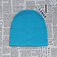 Демисезонная шапка детская 4-12 лет Голубой
