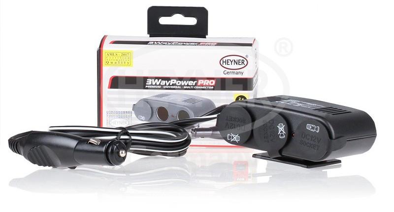 Разветвитель для прикуривателя Heyner 3Way Power PRO на 3 выхода с USB