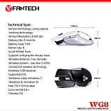 Мышь игровая беспроводная FANTECH WG8 LEBLANC (2000 DPI), White, Wireless, фото 2