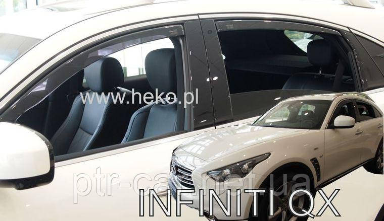 Дефлекторы окон (ветровики) INFINITI FX II/QX 5d od 2009r (HEKO)