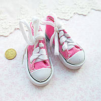Обувь для Кукол Кеды на Шнуровке 7*3 см ЯРКО-РОЗОВЫЕ