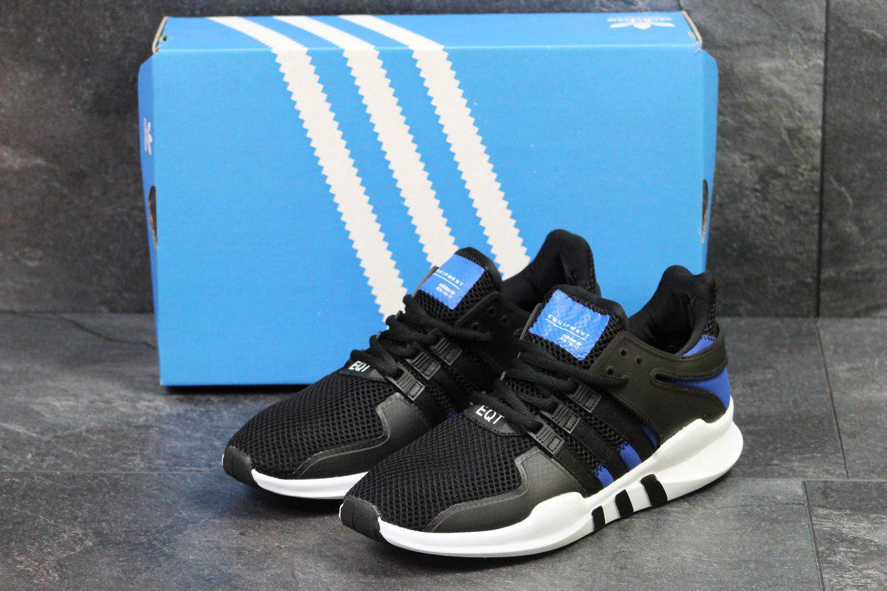 Чоловічі кросівки Adidas Equipment ADV/91-17 (чорно-білі), ТОП-репліка