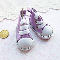 Обувь для кукол Кеды на Шнуровке 5*2.5 см СИРЕНЬ