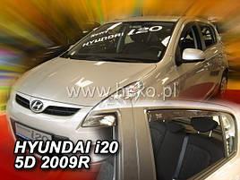 Дефлекторы окон (ветровики)  Hyundai i20 2009 -> 5D 4шт (Heko)