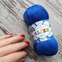 Пряжа хлопок мерсеризированный Miss Alize синий